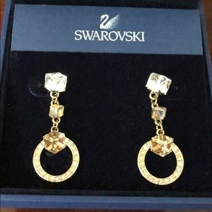 Authentic Swarovski Geometric Crystal Earrings
